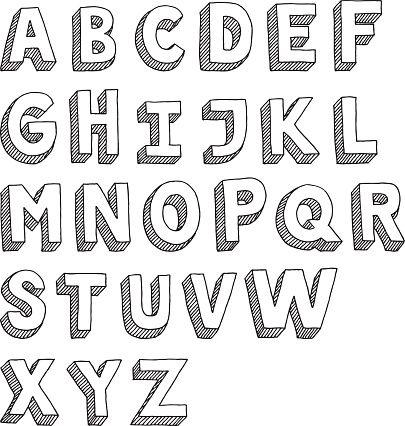 3d Alphabet Buchstaben Basteln Ausschneiden