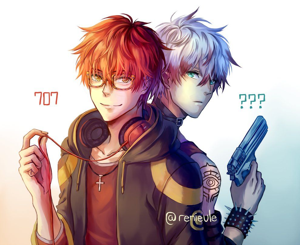 707 and Unknown by renieule (mystic messenger) Seven