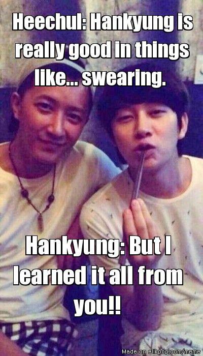 My Hanchul Heart Is Beating Again T T Allkpop Meme Center Heechul Memes Super Junior