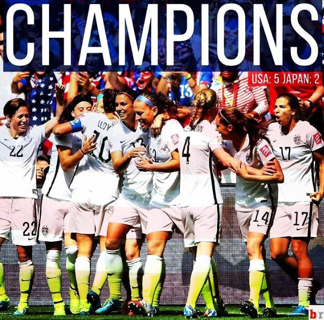 U S Womens Soccer Team World Cup Champions Con Imagenes Champions