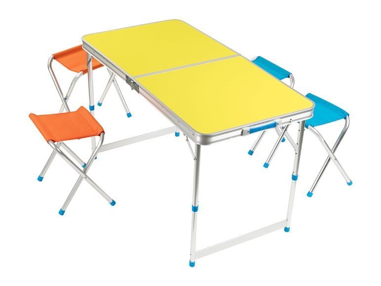 Crivit Gartenmobel Set 1 Hohenverstellbarer Campingtisch Mit 4 Hockern Klappbar Lidl De Camping Tisch Campingtisch Gartenmobel