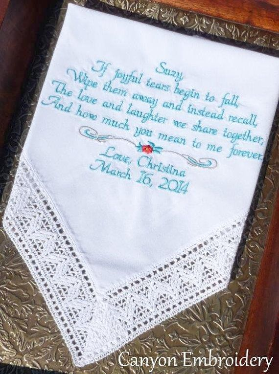 Step Mother Mother of the Bride Wedding Gift Embroidered ...