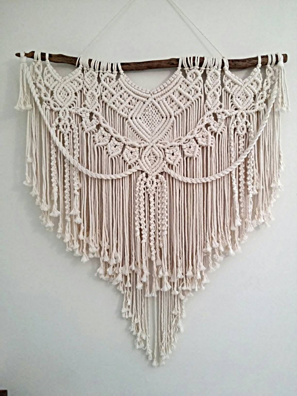 "Photo of Macrame wall hanging, ""Nefeli"", Macrame wall decor, Wall hangings, Home decor, Bedroom decor, Living room decor, Wedding, Greek designer"