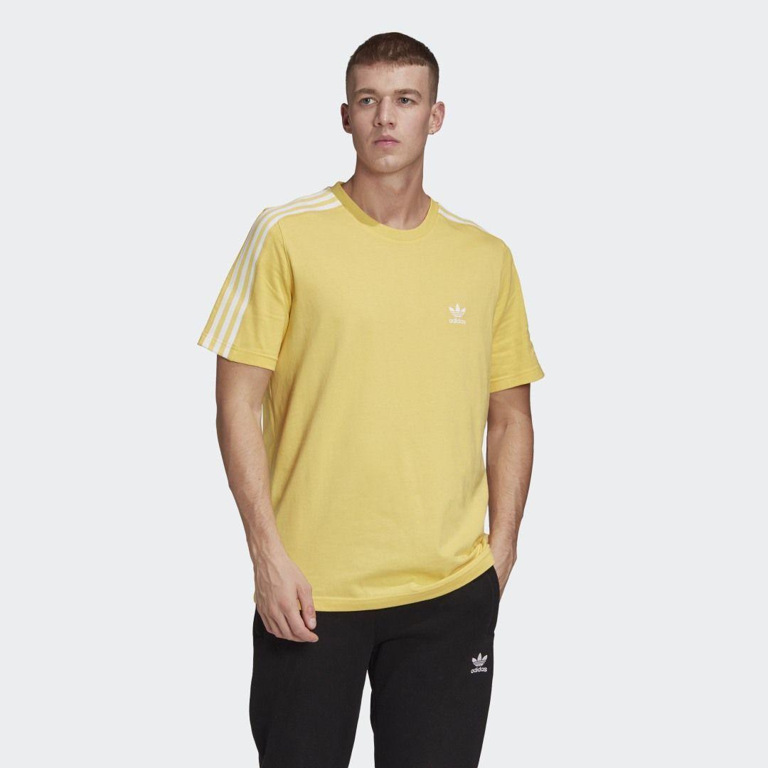 Tech Tee Core Yellow S10 Mens Shirts Adidas Tech Tech Tee [ 1080 x 1080 Pixel ]