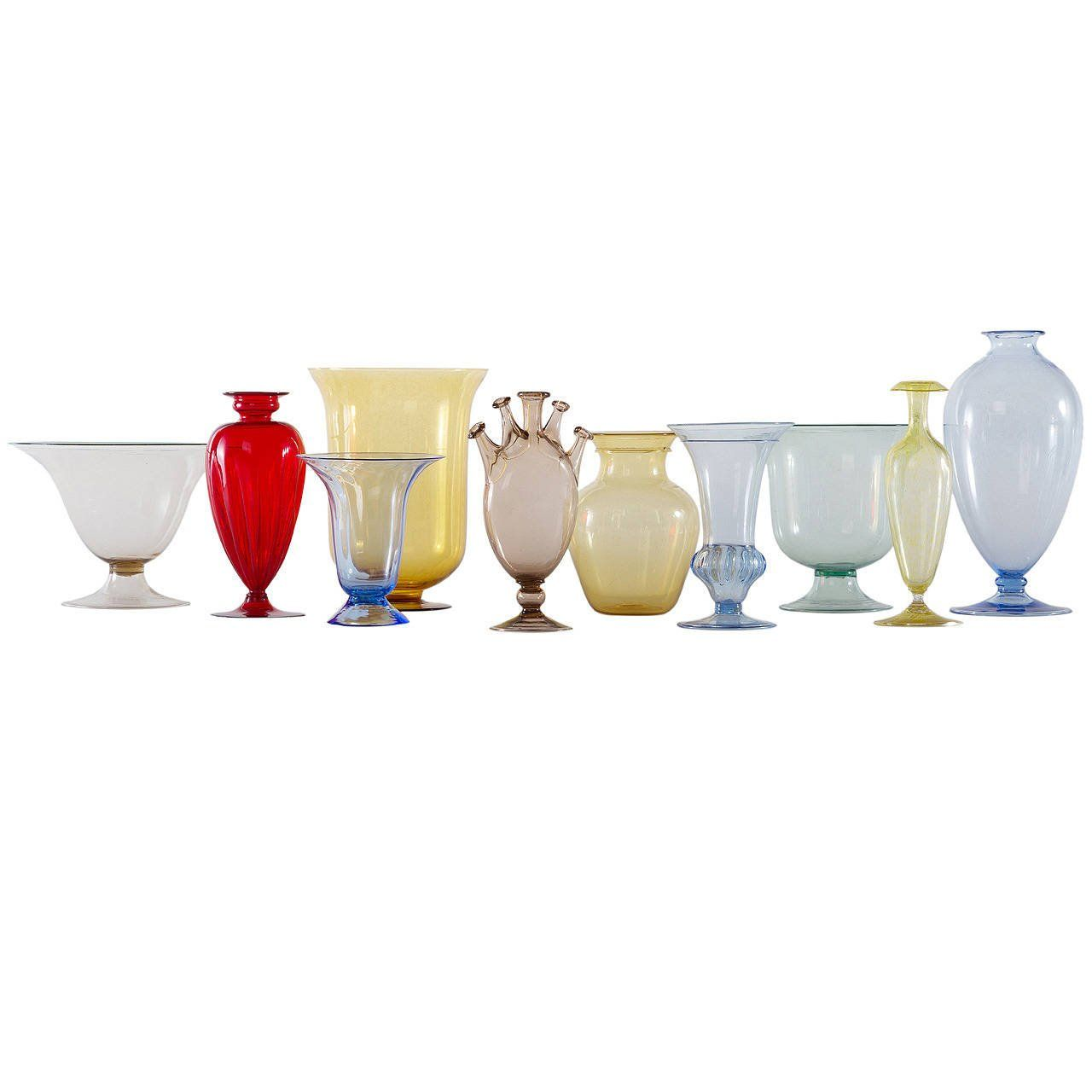 Collection of ten early italian glass vases venini 1900 1920 reviewsmspy