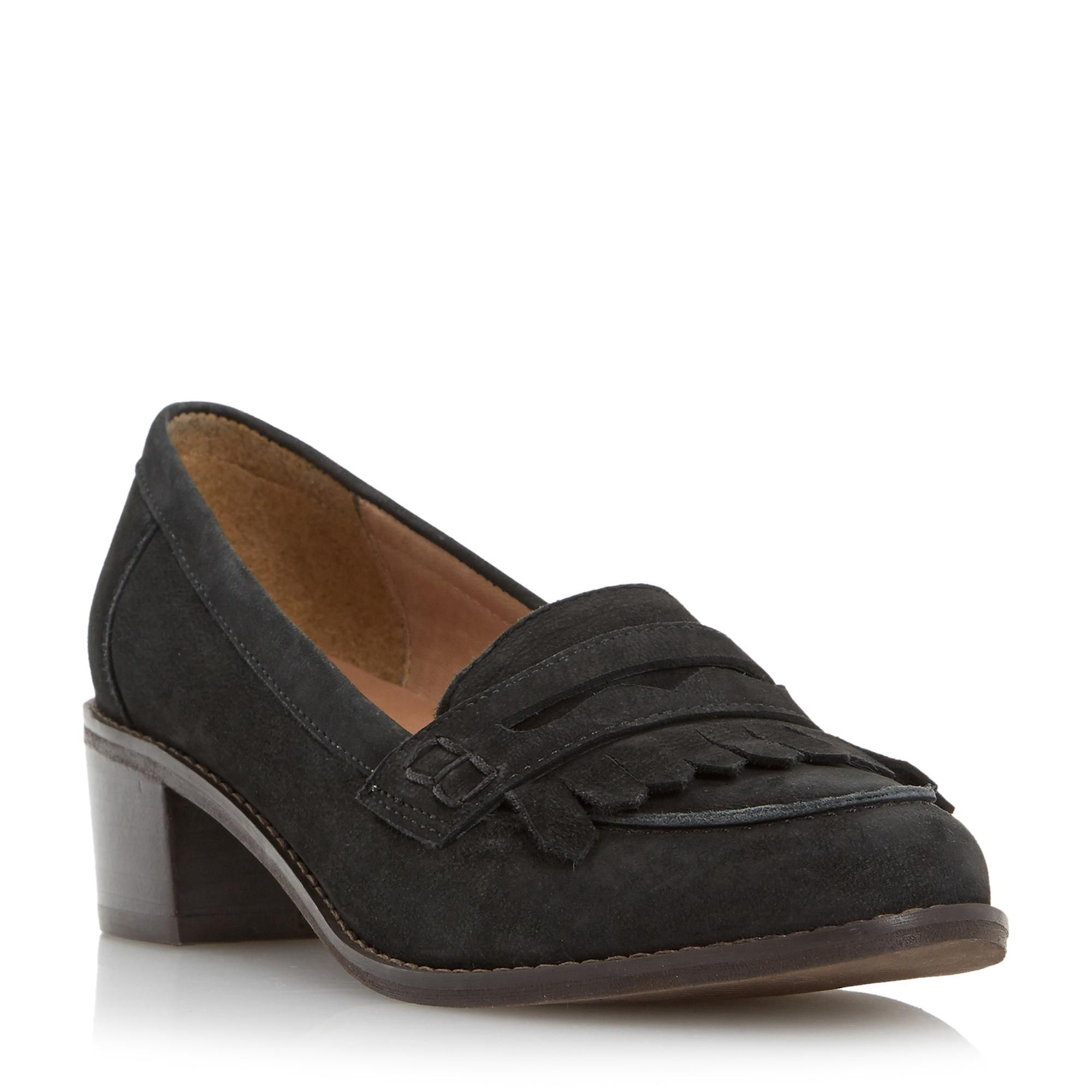 0ac06113b0b DUNE LADIES GWYNETH - Mid Block Heel Penny Loafer - black