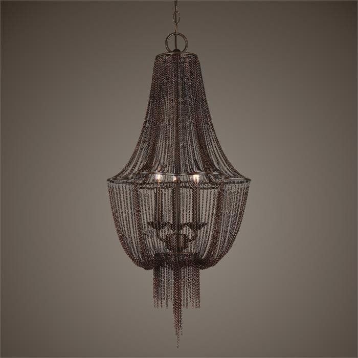 Lezzeno bronze fringe chandelier oil rubbed bronzebulblight fixtures highlightschandelierschandelier