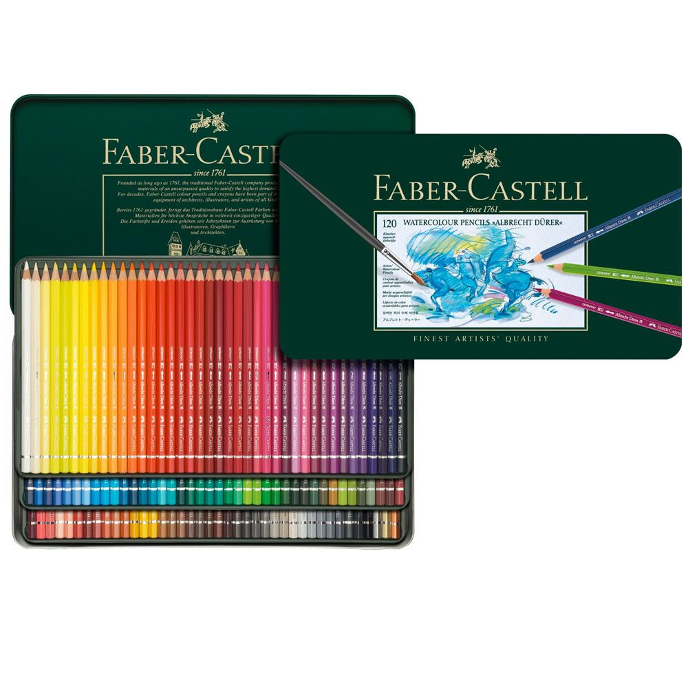 Faber Castell Albrecht Durer Watercolour Pencil Metal Tin Set