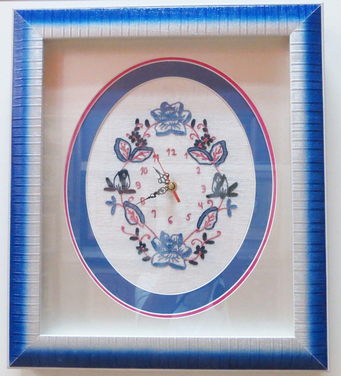 Reloj enmarcado en tonos azules! Nos encanta para decorar tu cocina ...