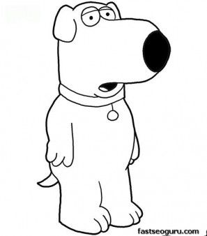 Printable Brian Family Guy Coloring Page Printable Coloring Pages For Kids Coloring Books Coloring Pages Puppy Coloring Pages