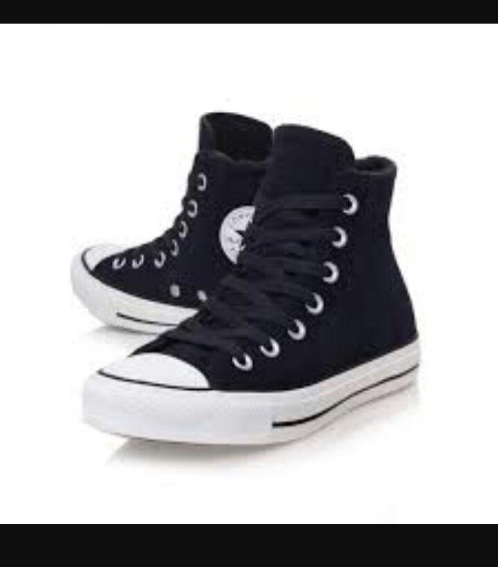 Zapatos, Zapatillas De Deporte Negras, Zapatillas De Deporte De Caña Alta,  Converse Corte Alto, Zapatos Converse, Converse Negros, Cimas Negras