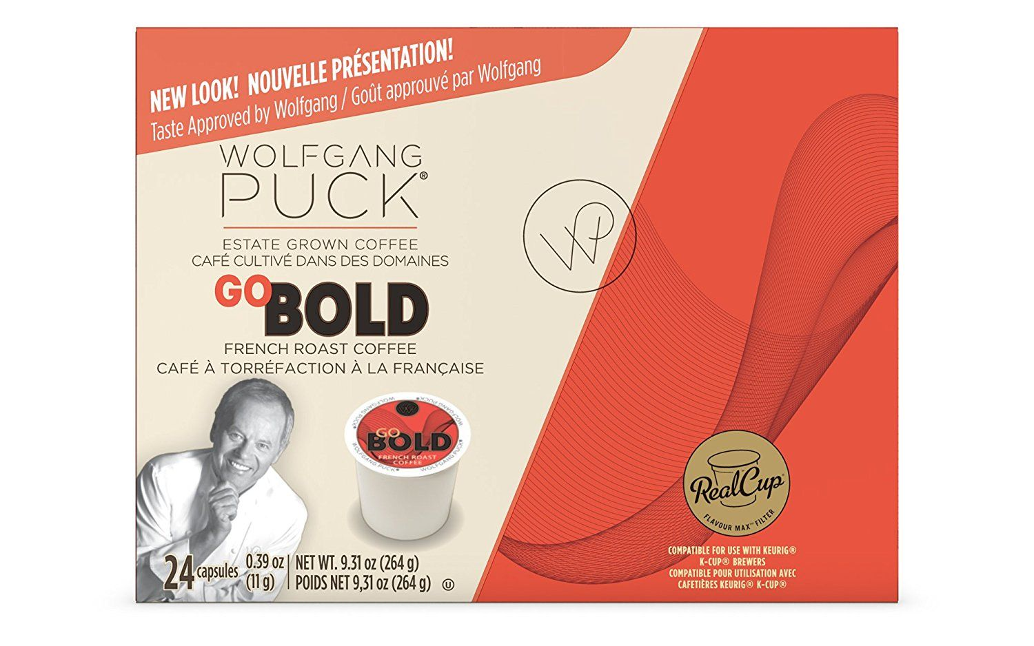Wolfgang Puck Go Bold French Roast Coffee Keurig KCups