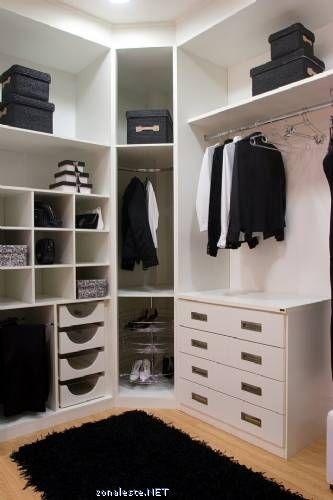 Vestidor con módulo de rincón en chaflán | casa | Pinterest ...