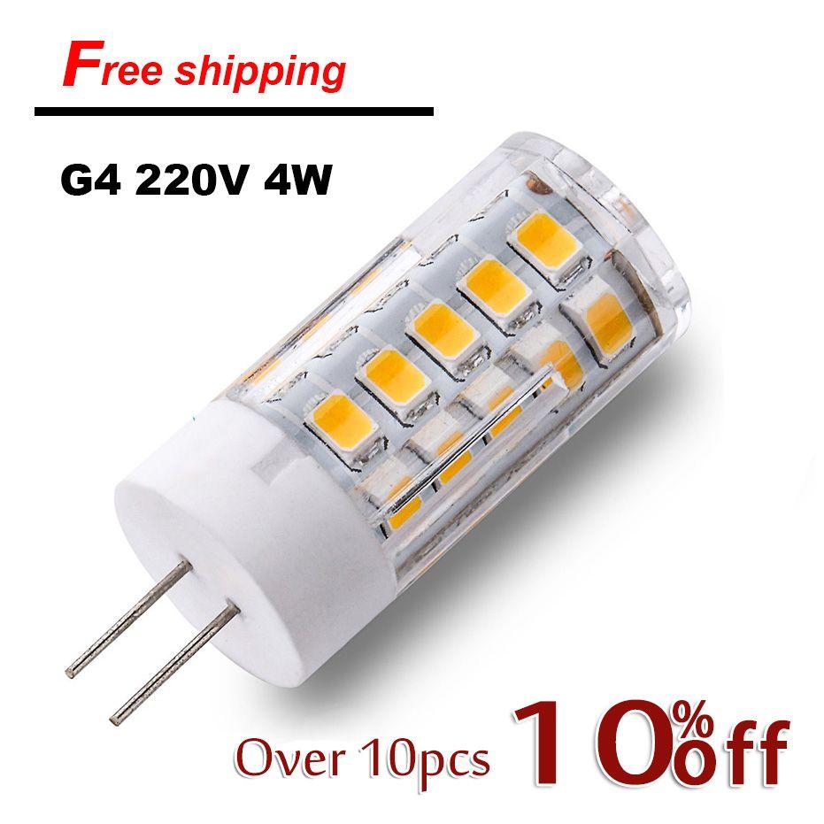 Find More Led Bulbs Tubes Information About 2017 On Sale G4 Led Lamp 220v Smd2835 4w 5w Ceramic Led Bulb Replace 30w 40w Halogen Light F Led Bulb G4 Led Bulb