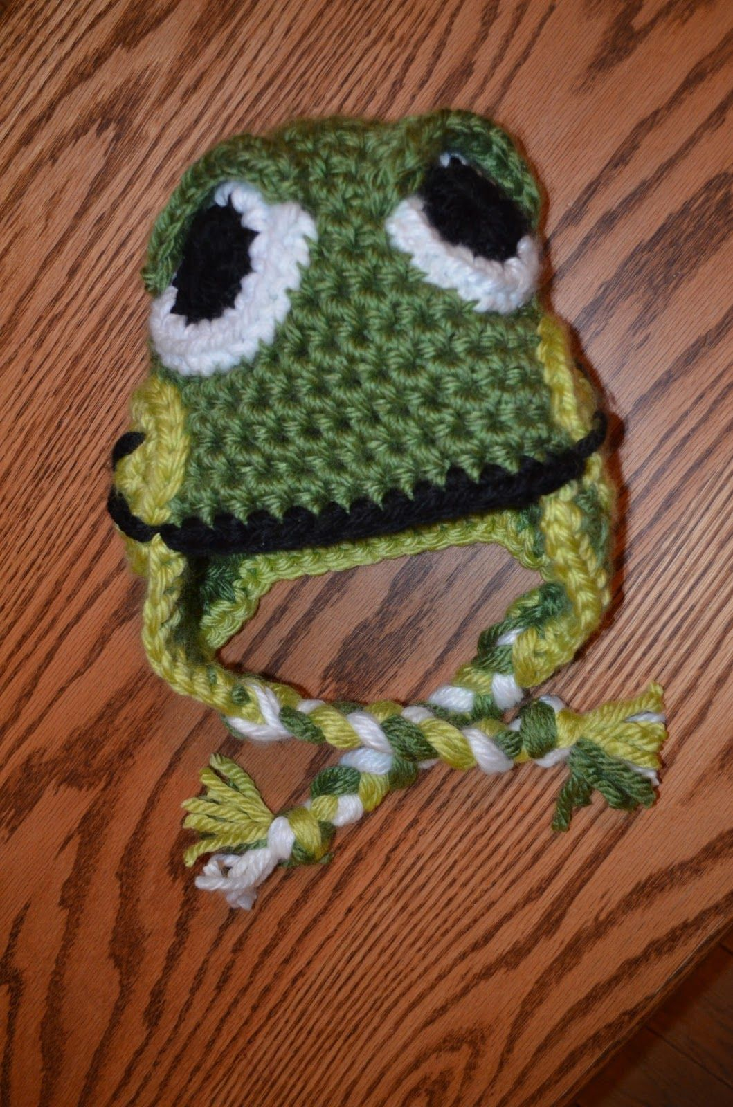 Hand me down hobby chunky frog hat crochet pinterest frogs