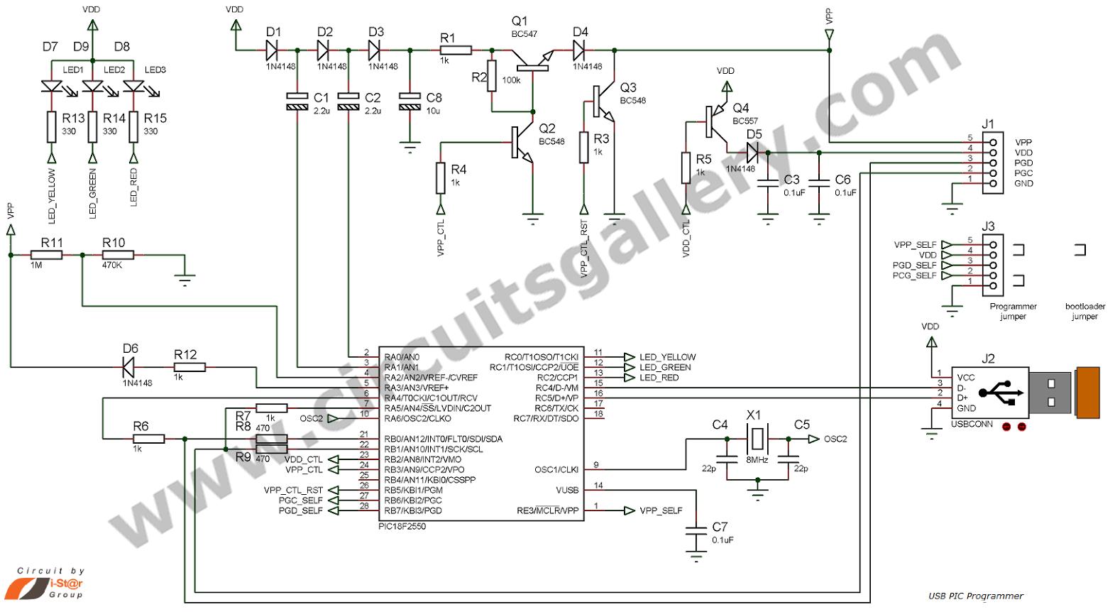 image electro schematics universal pic programmer circuit pc