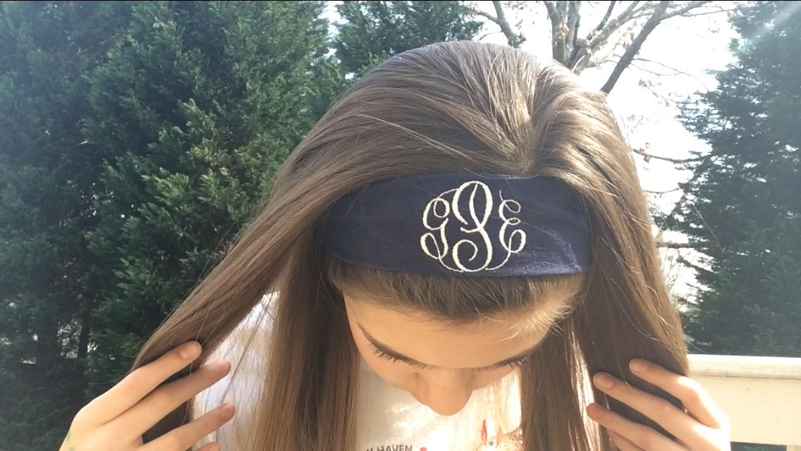Headband from @TGMonograms (Instagram) this was only $6 and is a great quality solid navy headband. Direct message @tgmonograms on Instagram to purchase.
