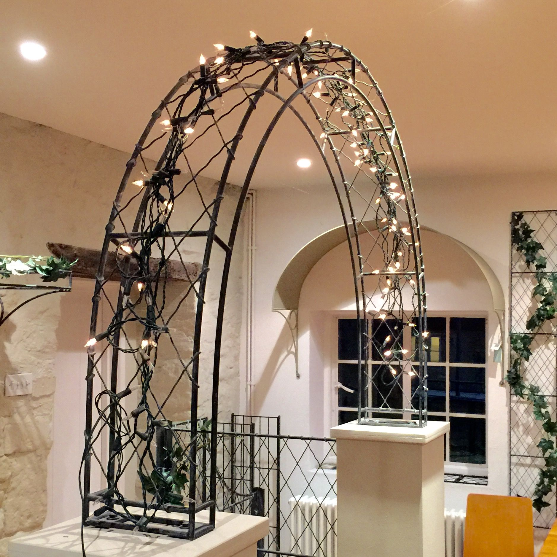 Wall-top garden arch ideal for driveways and garden entrances. Hand ...