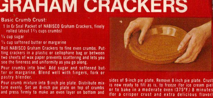 Nabisco Honey Maid Graham Cracker Crust My Mom Used To Make Add 1 2 3 4 Ts Graham Cracker Crust Recipe Graham Cracker Crumb Crust Nabisco Graham Cracker Crust