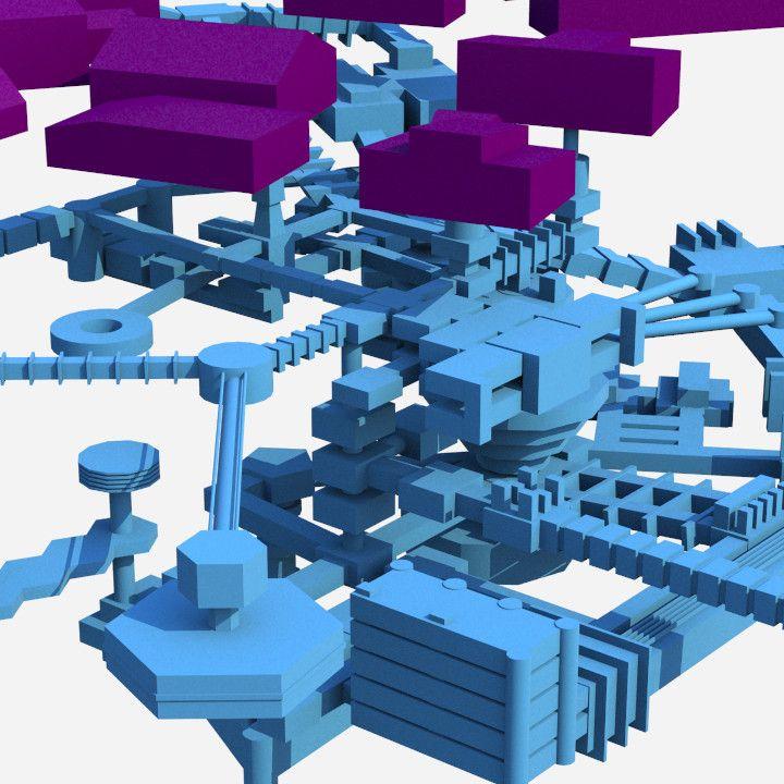 Resident Evil Umbrella Chrnicles Subway Map 3d Model.Maya Underground Facility Hive Resident Evil Buildings Art All