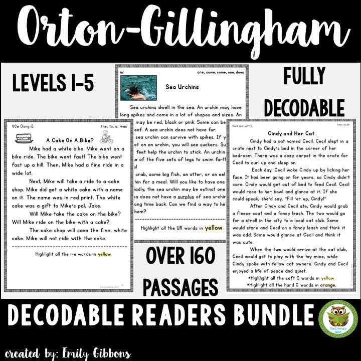 Orton-Gillingham Decodable Stories BUNDLE Reading Passages | Texts ...