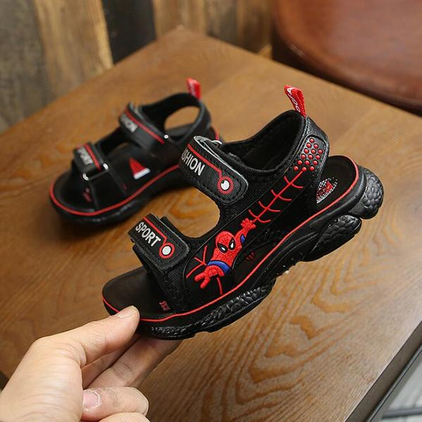 PINSEN 2019 New Summer Shoes Children Sandals Boys Breathable Spiderman Kids
