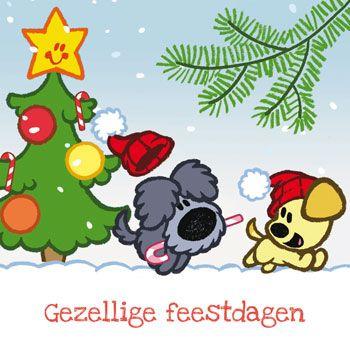 kerst woezel en pip kerst kaarten kerst knutselen kerst