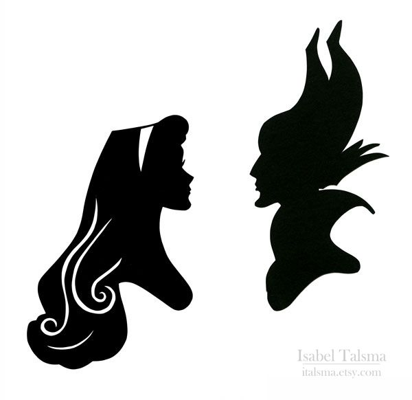 Sleeping Beauty (Variant). Briar Rose and Maleficent