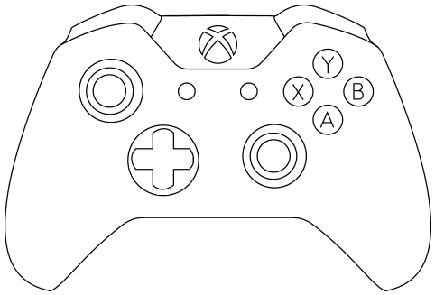 Kleurplaat Xbox • Kidkleurplaat.nl