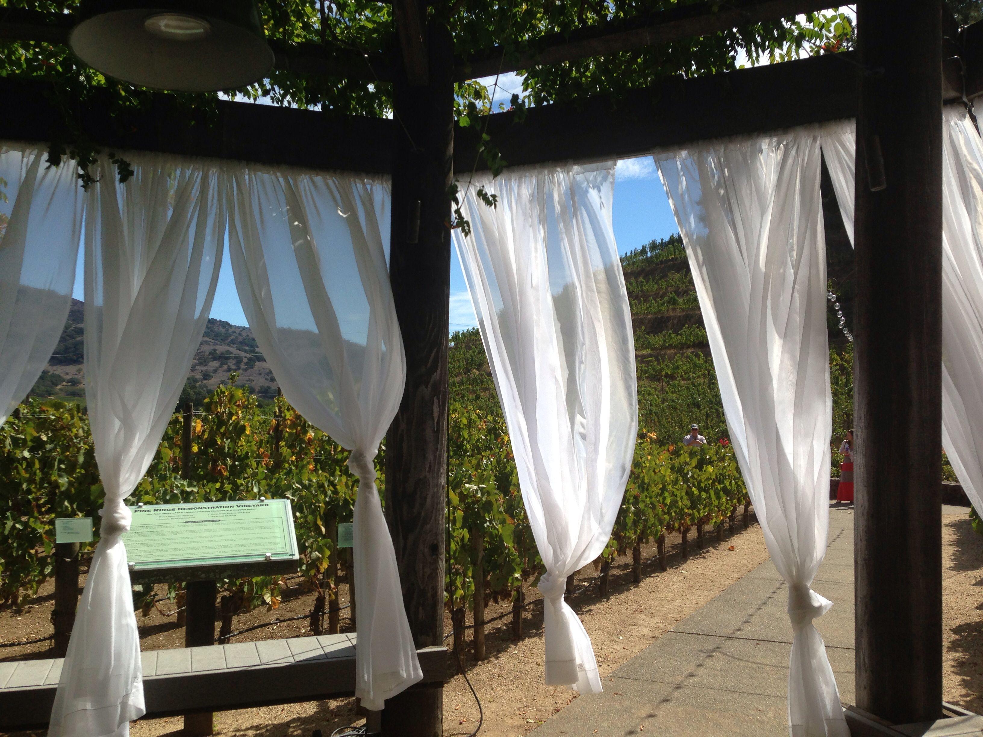Napa Valley, Pine Ridge Winery | Pine ridge winery, Ridge ...