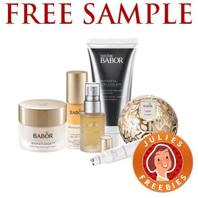 Free Sample Of Babor Skin Care Products Julie S Freebies Babor Skin Care Skin Care Items Skin Care