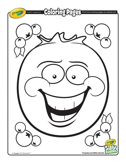 Silly Scents Blueberry Coloring Page