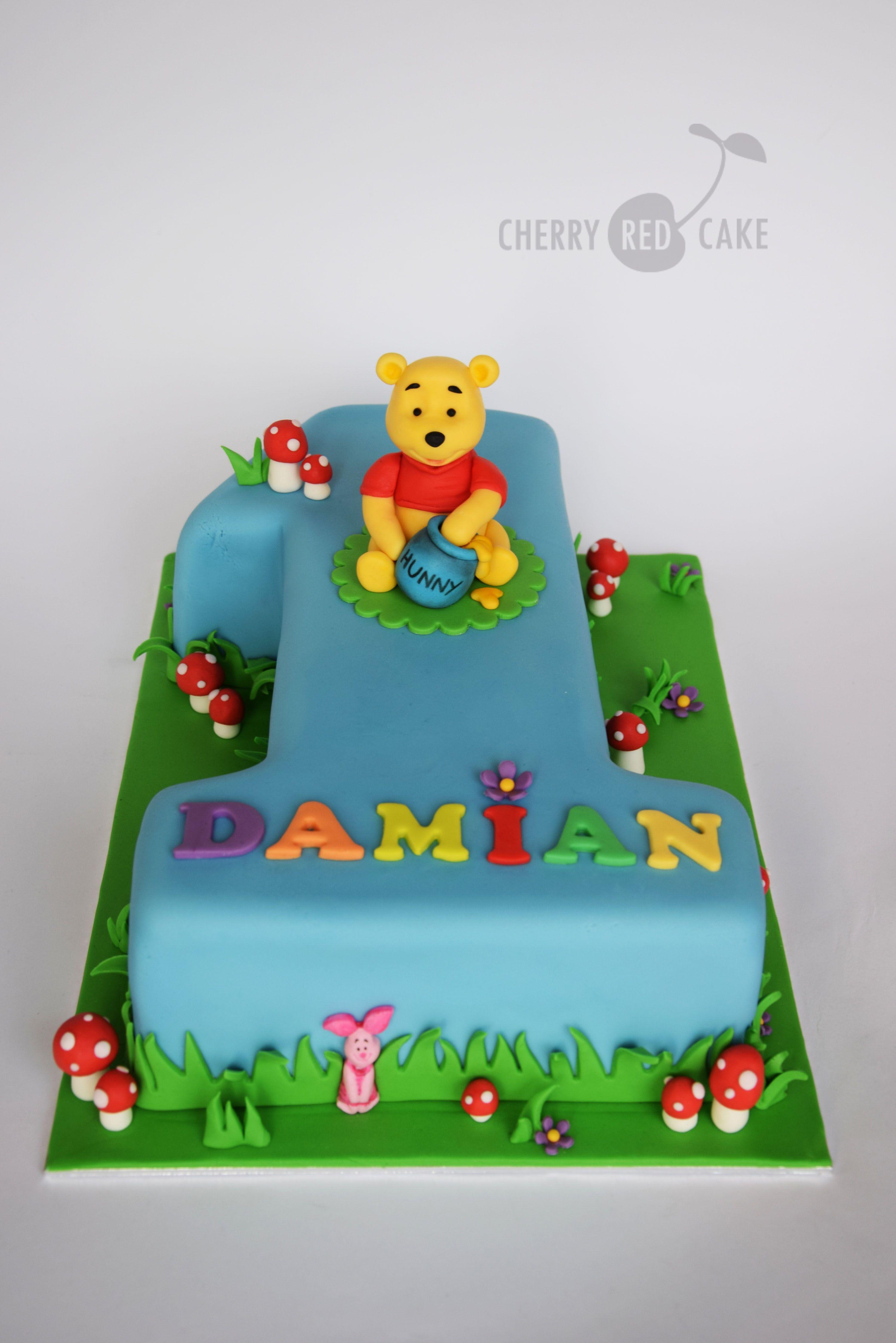 Brilliant Winnie The Pooh Cake With Images Birthday Cake Kids Winnie Funny Birthday Cards Online Alyptdamsfinfo