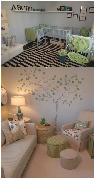 Bedroom for the multiples i want to have hopefully for Baby twin bedroom ideas