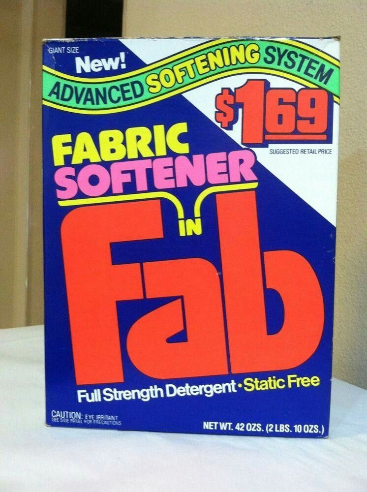 Oh Fab With Fabric Softener 1984 Baby Boomers Memories My