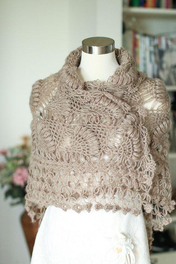 Shawl,Crochet Shawl, Bridal Shawl, Bridal Cape,Bridal Wrap, Wedding ...