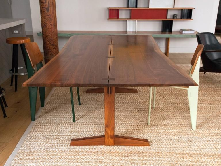 George Nakashima Trestle Dining Table With Rosewood Butterfly Joints At 1stdibs