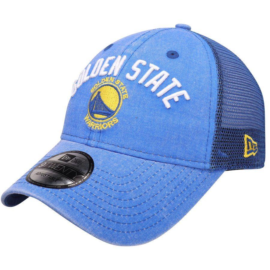 0e2cc625671b Men s Golden State Warriors New Era Royal Rugged Canvas 9TWENTY Snap 2 Adjustable  Hat