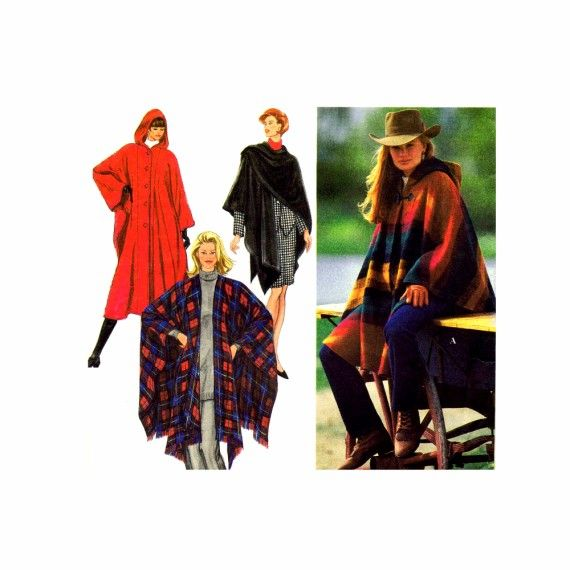 Misses Hooded Cape and Wrap Simplicity 9223 Sewing Pattern | Sewing ...