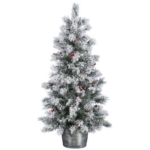 Vickerman Flocked Pine Berry Christmas Tree Pre Lit Christmas Tree Fake Christmas Trees Tree