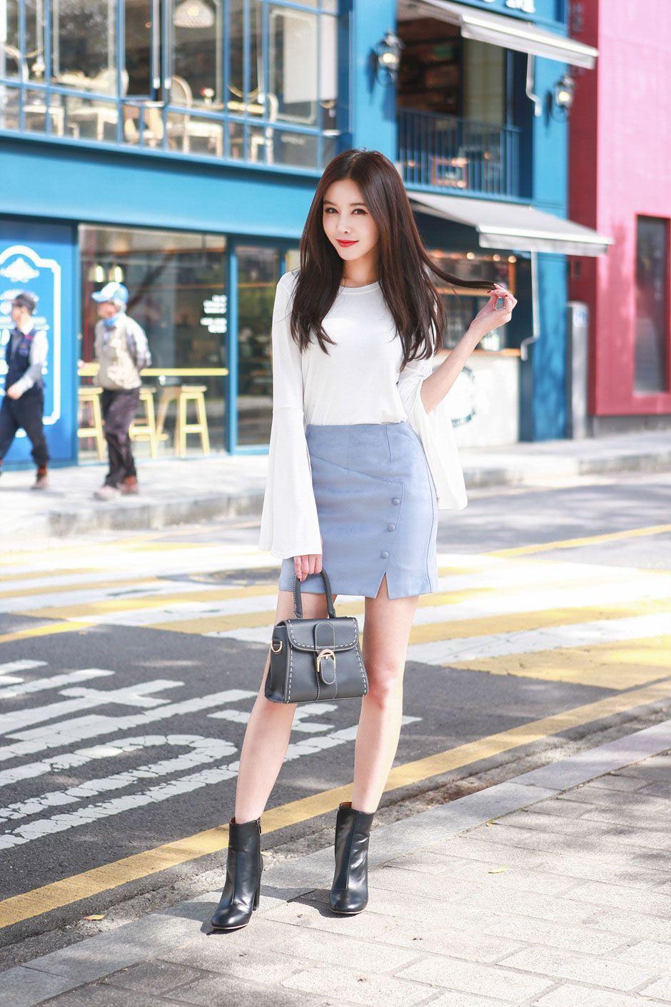 Korean Fashion Spring Feminine Elegant Casual Urban Chic