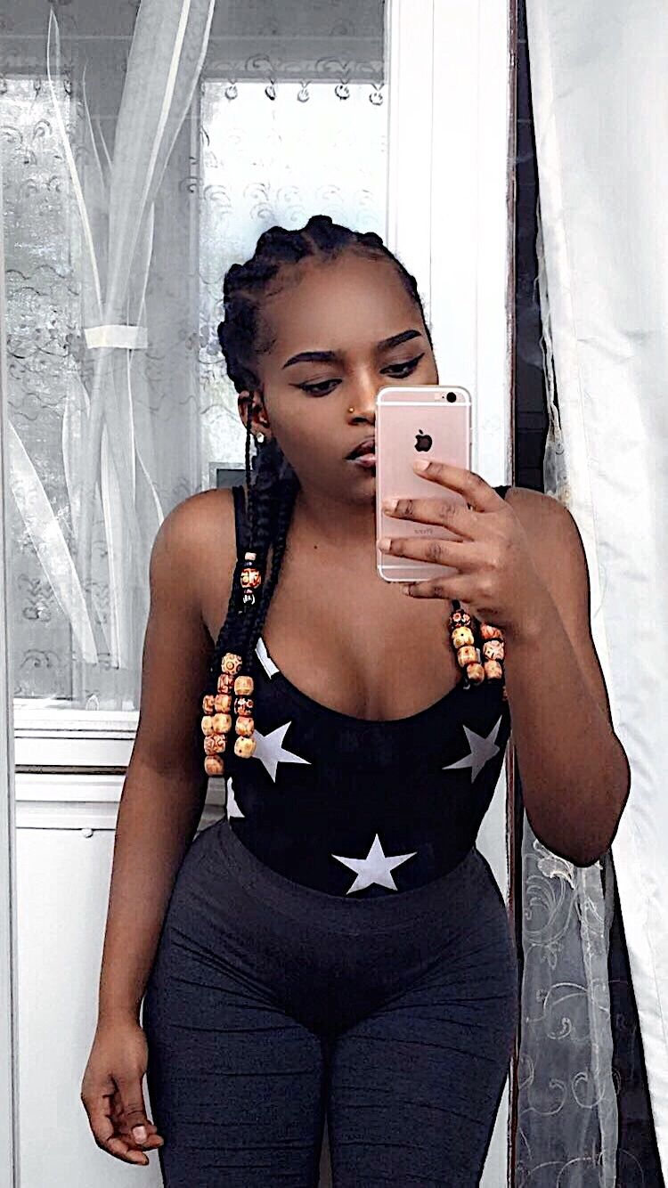 Cornrows Hairstyle With Beads