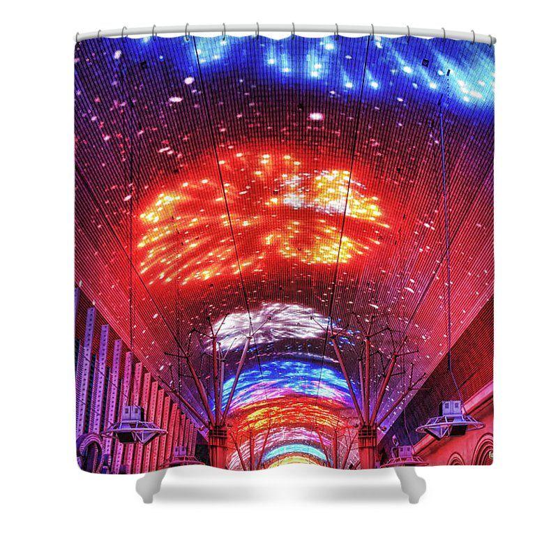 Fireworks Display In Las Vegas Shower Curtain By Tatiana Travelways