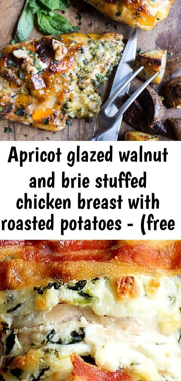 Apricot glazed walnut and brie stuffed chicken breast with roasted potatoes - (free recipe below) 4 #hasselbackchicken Apricot Glazed Walnut and Brie Stuffed Chicken Breast with Roasted Potatoes - (Free Recipe below) Hasselback Chicken with Cheese, Spinach & Bacon Crock-Pot Chicken and Dumplings #Crock-Pot #Chicken and #Dumplings #Recipe #Meals Chicken Wild Rice Casserole with tender, flavorful chicken nestled in a bed of wild rice and mushrooms. Uniquely flavored, filling and delicious! #wildri #chickendumplingscrockpot