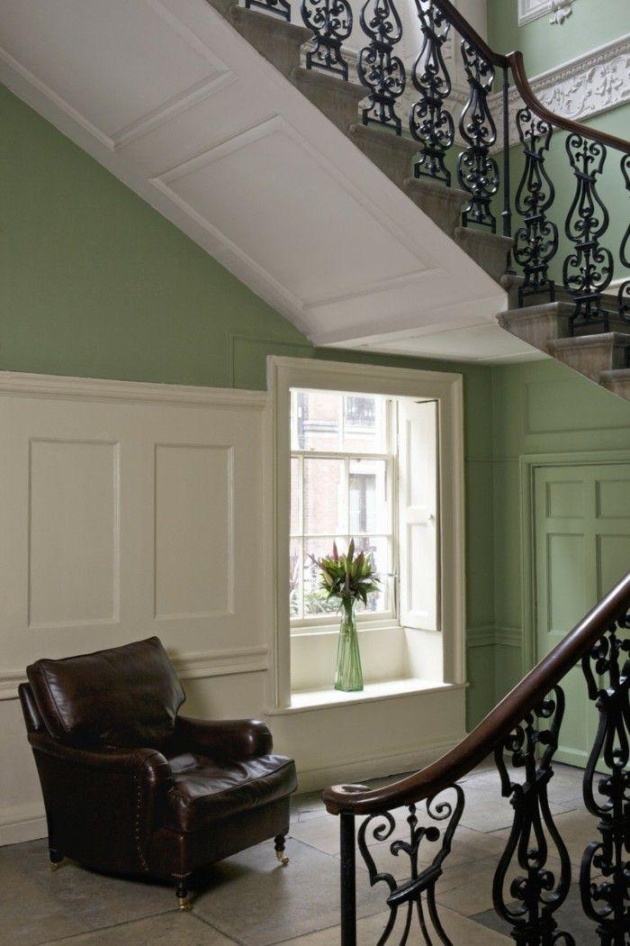 Gestaltungsideen Flur gestaltungsideen flur einen sessel aus leder grün gestrichen