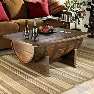 barrel table- my father in law could make this!