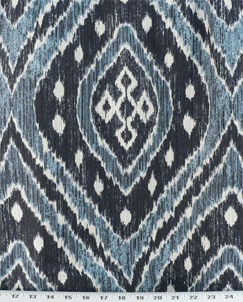 Sumatra Indigo Fabric Victorian Sofa Chair Fabric Cozy