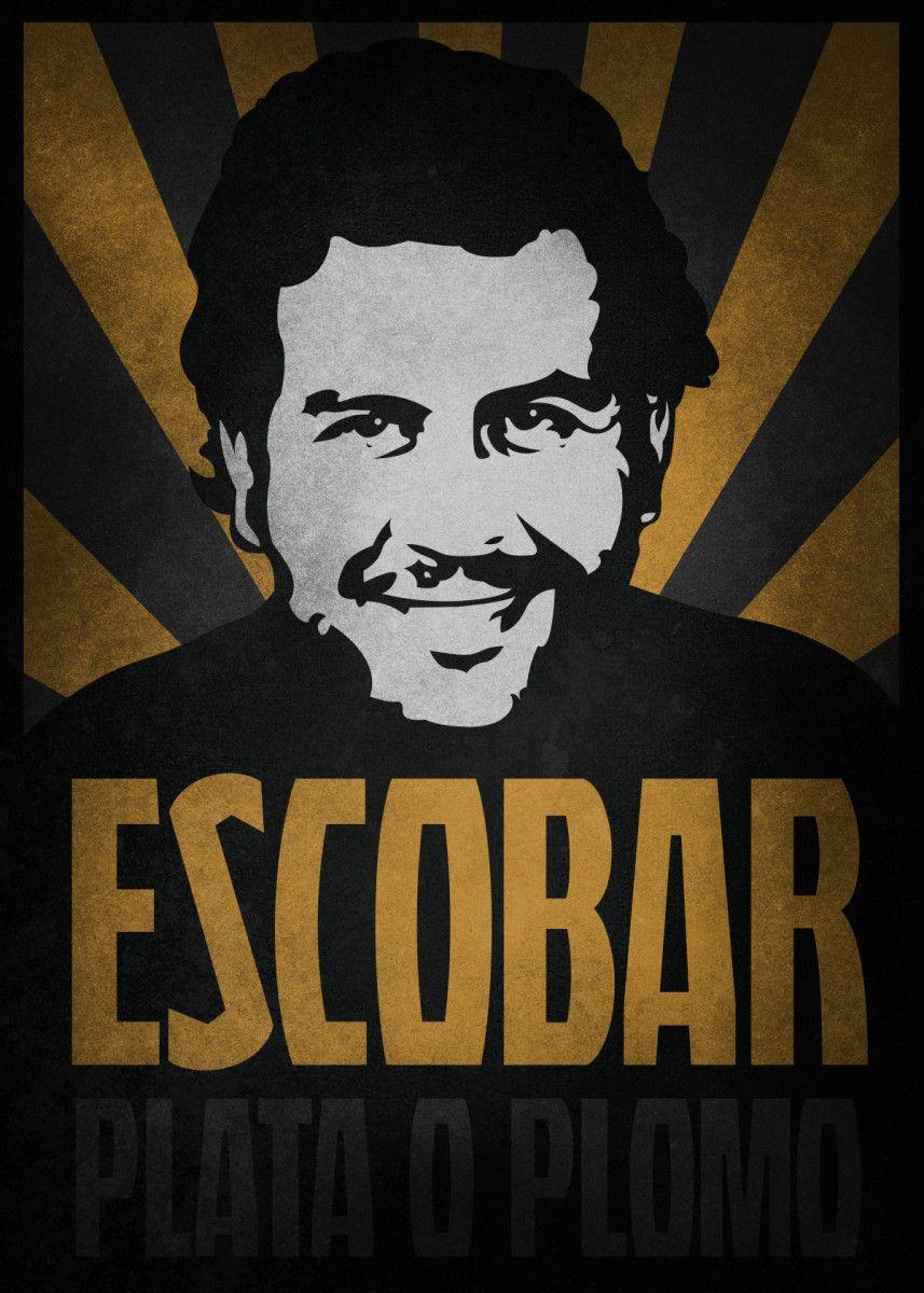 pablo escobar vintage poster by bgw