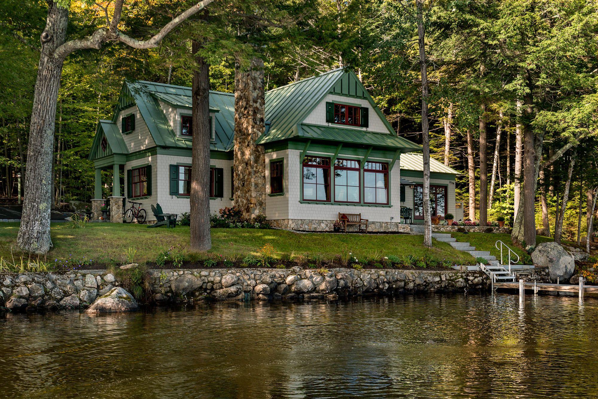 Lakeside Maine Cottage Tms Architects Lake
