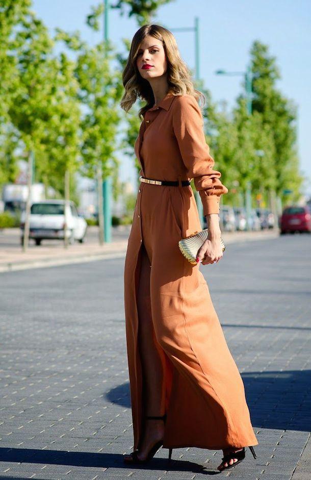 c93d1a30f vestido camisero largo | style en 2019 | Vestidos, Vestidos ...
